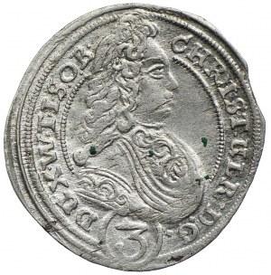 Śląsk, Księstwo Oleśnickie, 3 krajcary 1701, Oleśnica