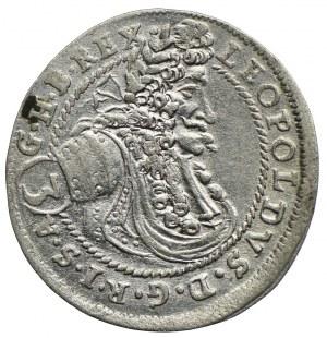 Węgry, Leopold I, 3 krajcary 1678 CH, Bratysława