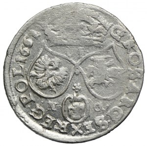 Jan II Kazimierz, szóstak 1661 NG, Poznań