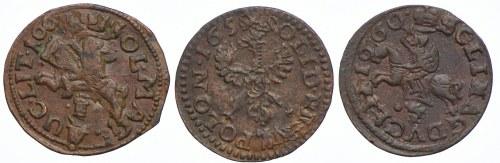Jan II Kazimierz, zestaw, szelągi litewskie, (3szt.)