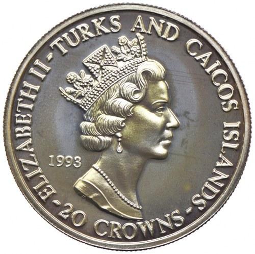 Turks & Caicos, 20 koron 1993