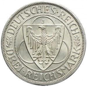 Niemcy, 3 marki 1930 J, Hamburg