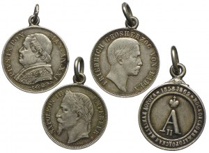 Zestaw monet z zawieszkami (4szt.)