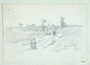 Tadeusz Rybkowski (1848-1926), Droga do lasu, 1887