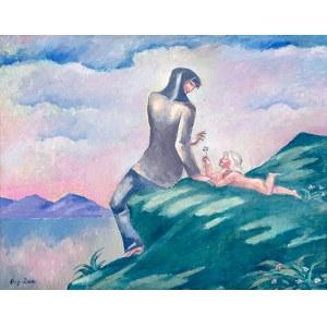Eugeniusz Zak (1884 Mogilno – 1926 Paryż), Kobieta z dzieckiem na brzegu jeziora (ok. 1913 r.?)