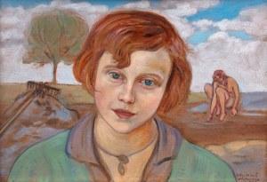 Wlastimil Hofman (1881 Praga - 1970 Szklarska Poręba), Głowa dziewczyny, 1928 r.