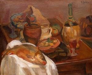 Henryk Epstein (1891 Łódź - 1944 Auschwitz), Martwa natura z rybą