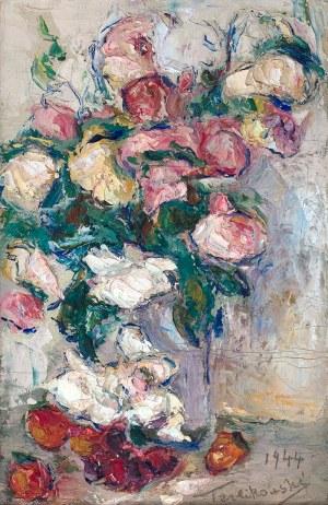 Włodzimierz Terlikowski (1873 wieś pod Warszawą - 1951 Paryż), Kwiaty w wazonie, 1944 r.