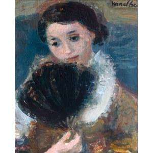 Rajmund Kanelba (1897 Warszawa - 1960 Londyn), Portret kobiety z wachlarzem , 1930 r.