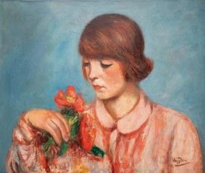 Henryk Hayden (1883 Warszawa - 1970 Paryż), Kobieta z bukietem kwiatów