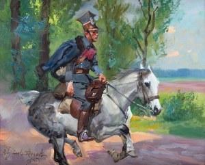 Wojciech Kossak (1856 Paryż - 1942 Kraków), Ułan na galopującym koniu, 1905 r.