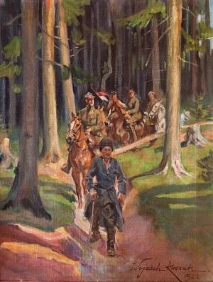 Wojciech Kossak (1856 Paryż - 1942 Kraków), Patrol, 1922 r.