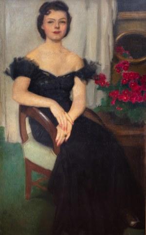Alfons Karpiński (1875 Rozwadów - 1961 Kraków), Portret Pani Sch., przed 1959 r.