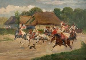 Jerzy Kossak (1886 Kraków - 1955 tamże), Wesele Krakowskie, 1933 r.