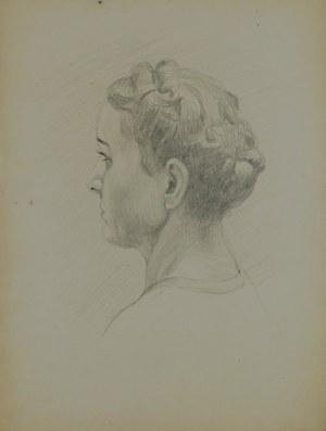 Ludwik Antoni Maciąg (1920-2007), Szkic głowy młodej kobiety
