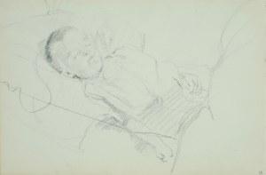 Włodzimierz Tetmajer (1861 - 1923), Śpiące dziecko, ok. 1900