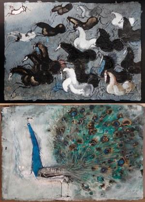 Józef Wilkoń, praca dwustronna Tabun koni,Paw, 2020