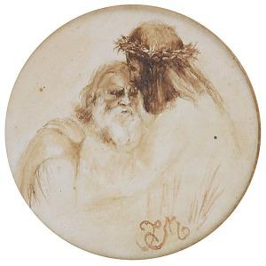 Jan MATEJKO (1838-1893), Chrystus i św. Piotr, ok. 1860