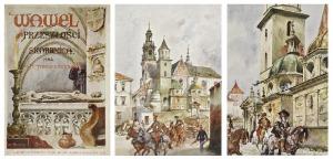 Wojciech KOSSAK (1856-1942) Stanisław TONDOS , Wawel