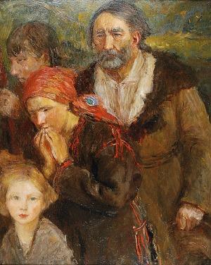 Teodor AXENTOWICZ (1859-1938), Na Gromniczną, ok. 1910