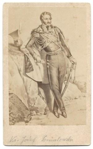[PONIATOWSKI Józef Antoni - fotografia portretowa]. [2. poł. XIX w.]. Fotografia form. 8,5x5,6 cm na oryg...