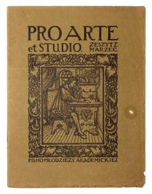 PRO ARTE et Studio. Pismo młodzieży akademickiej. Warszawa. Wyd. E. Boyé, R. 1, zesz. 1: III 1916. s. 42