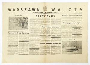 WARSZAWA Walczy. Pismo Informacyjne Armii Krajowej. [Warszawa. Armia Krajowa, VI Oddz. Sztabu]. folio. Nr 39, wyd...