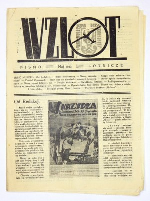 WZLOT. Pismo lotnicze. [Warszawa. Wyd. grupa młodzieży związana z AK]. 8. brosz. V 1943. s. 19, [1]...