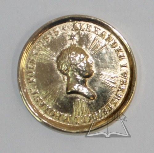 (KRÓLESTWO Polskie). Medal ku czci cara Aleksandra I.