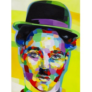 Monika Łakomska, Charlie Chaplin Abstract, 2020