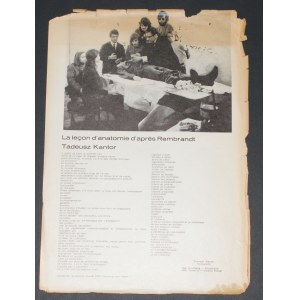 Tadeusz Kantor - Lekcja Anatomii Wedle Rembrandta, 1969 [Druk]