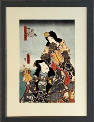 Utagawa TOYOKUNI [1769 –1825] Para, okres Edo