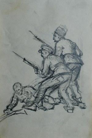 Józef Pieniążek (1888-1953), Żołnierze w ataku