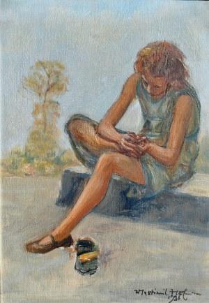 Wlastimil Hofman (1881-1970), Dziewczyna wyjmująca cierń, 1936