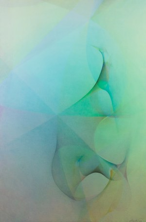 Krzysztof Syruć (Proembrion) (ur. 1984), Pure Uniform Coloring (of Order-8 Triangular Tiling with Exuberants) z cyklu SET a42n6, 2020