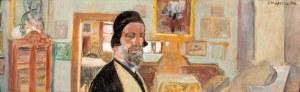 Jacek Malczewski (1854-1929), Autoportret we wnętrzu, 1926