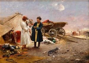 Michał Wywiórski-Gorstkin (1861 - 1926), Na wschodnim targu, 1891 r.