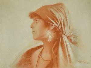 Piotr Stachiewicz (1858-1938), Portret dziewczyny