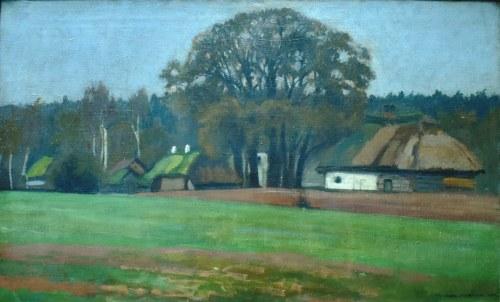 Stanisław Czajkowski (1878-1954), Przysiółek pod lasem, 1903