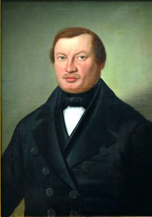 Józef Simmler (1823-1868), Portret mężczyzny