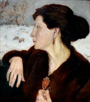 Wlastimil Hofman (1881-1970), Portret żony Ady, 1918