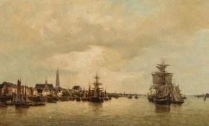 Arthur Bouvier (1837-1921), Pejzaż z Antwerpii