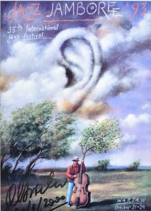 Rafał Olbiński (Ur. 1943), Plakat Jazz JAMBOREE '93 z autografem Rafała Olbińskiego