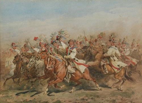 Juliusz  KOSSAK (1824-1899), Krakowiacy, 1881