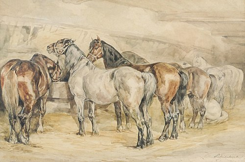 Piotr MICHAŁOWSKI (1800-1855), Konie w stajni, 1832-1835