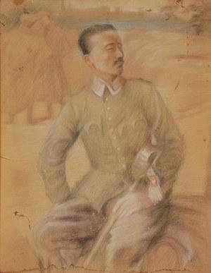 Teodor AXENTOWICZ (1859-1938), Portret legionisty - szkic, ok. 1915