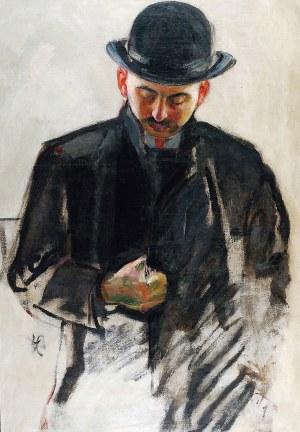 WLASTIMIL HOFMAN (1881-1970), Mężczyzna w meloniku, ok. 1907