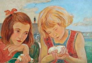 Wlastimil HOFMAN (1881-1970), Dziewczynki z ptaszkami, ok. 1925