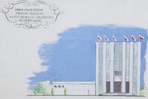 Tadeusz GRONOWSKI (1894-1990), Targi Poznańskie. Projekt Pawilonu Państwowego Przemysłu Spożywczego, lata 60-te XX w.;