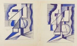 Tadeusz GRONOWSKI (1894-1990), Projekt panneau dekoracyjnego o charakterze abstrakcyjnym (dwie wersje),